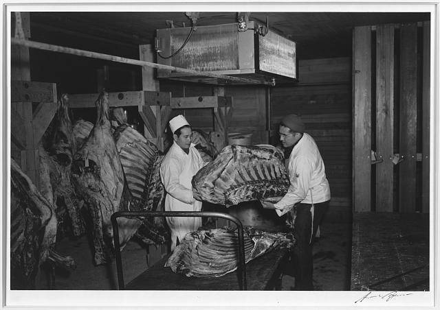 Butcher shop, Manzanar Relocation Center