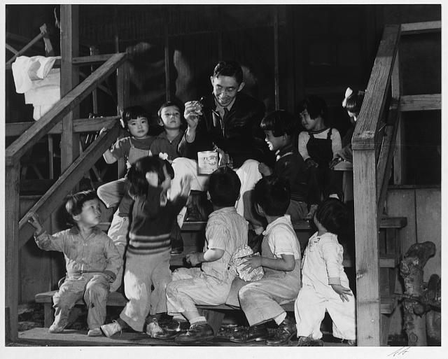 Mr. Matsumoto and group of children