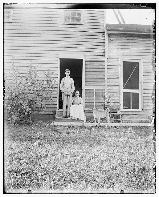 [Mr. and Mrs. Lindemuth, farmers, at Shoup's Mill, near Dayton, Ohio]