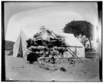 [Closeup view of the Wright brothers' tent at Kitty Hawk, a half mile from Captain Tate's home]