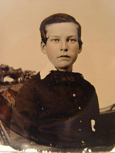 [Private Charles H. Bickford of B Company, 2nd Massachusetts Infantry Regiment as a young boy]