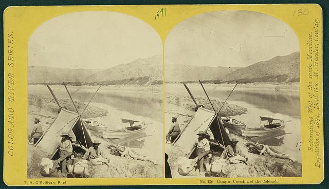 Camp at crossing of the Colorado