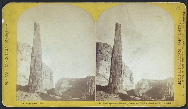 Explorers column, Cañon de Chelle, about 900 ft. in height.