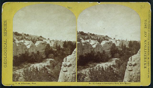 Cañon at Inscription Rock, New Mexico.