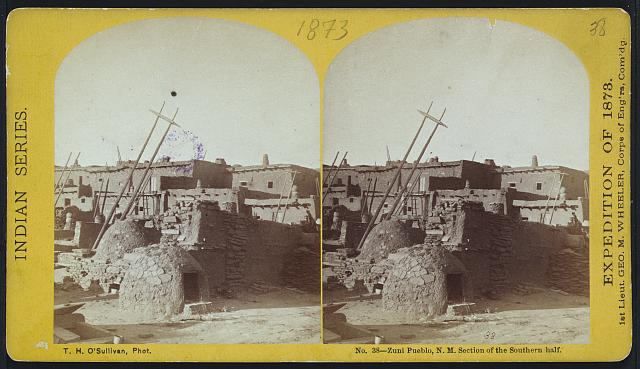 Zuni Pueblo, N.M. section of the southern half.
