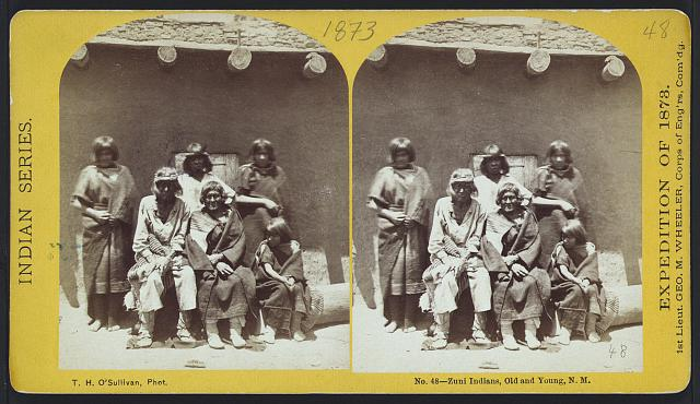 Zuni Indians, old and young, N.M.