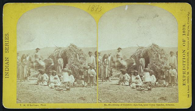 Group of Coyetero Apaches, near Camp Apache, Arizona.