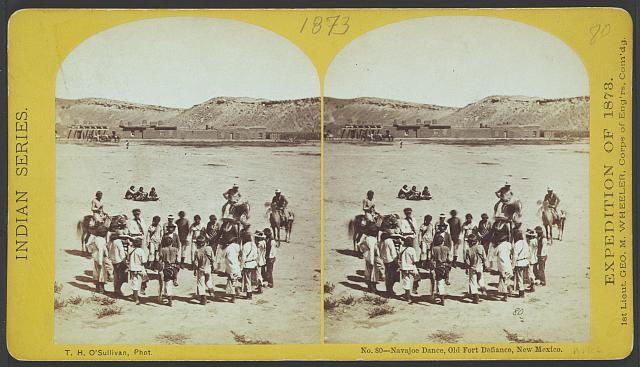 Navajoe dance, old Fort Defiance, New Mexico.