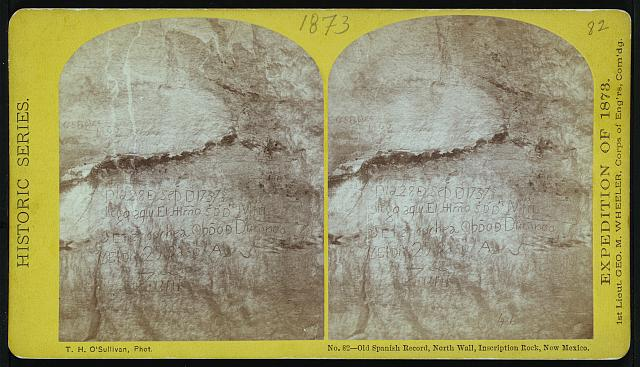Old Spanish record, north wall, Inscription Rock, New Mexico.