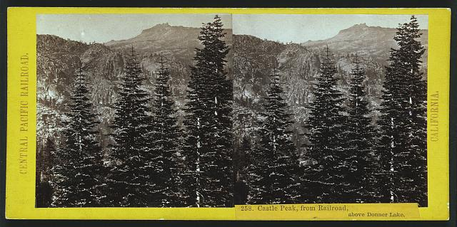Castle Peak from railroad, above Donner Lake