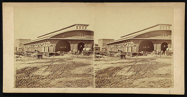 Car shed - Atlanta during last days of occupation by Gen'l. Sherman's Army, destroyed