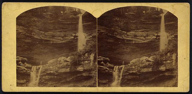 [High fall, Catskill, the upper one 150 ft.. the lower 60 ft.]