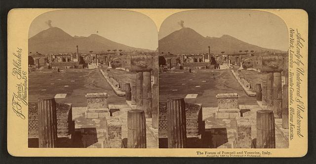 The Forum of Pompeii and Vesuvius, Italy