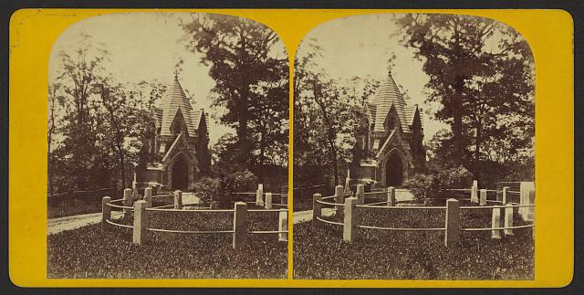 Monuments in Greenwood cemetery