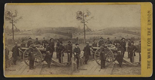Maj. Gen. Sherman and staff. This view was taken in the trenches before Atlanta, Ga.