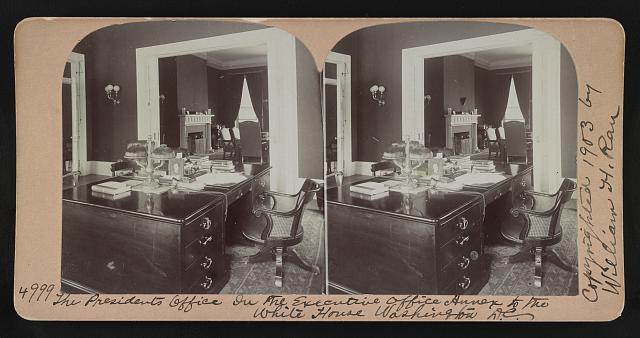 The President's office in the Executive Office Annex to the White House, Washington, D.C.