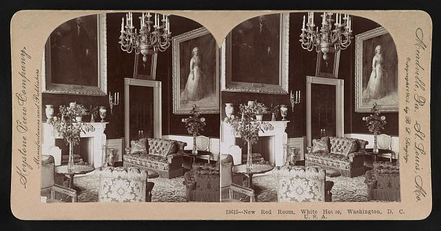 New Red Room, White House, Washington, D.C., U.S.A.