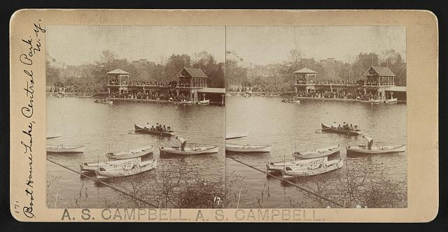 Boat house lake, Central Park, N.Y.