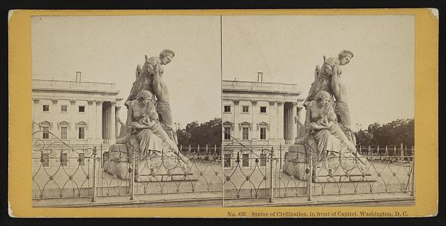 Statue of Civilization, in front of Capitol, Washington, D.C.