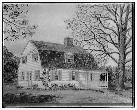 Houses. House from architect's drawing