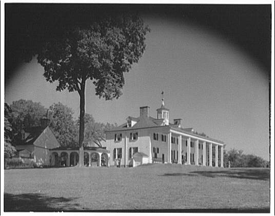 Mount Vernon. Front and left side of Mount Vernon mansion II