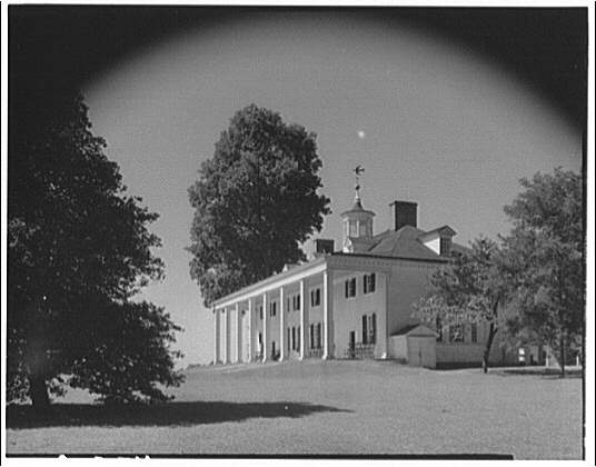 Mount Vernon. Front and left side of Mount Vernon mansion III