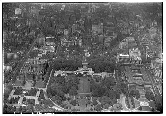 Washington, D.C. Aerial view of Lafayette Square looking north II