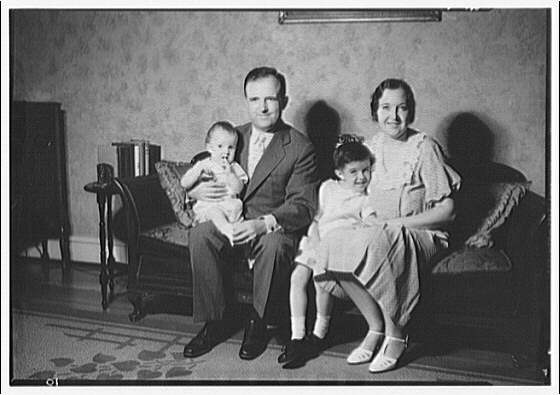 Thomas J. Meaney family and children. Meaney family portrait III