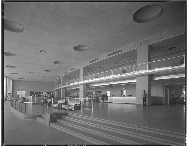 National Airport. Interior of waiting room showing ticket counter at National Airport II