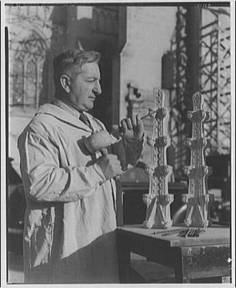National Cathedral. Mr. Fanfani, sculptor at National Cathedral I