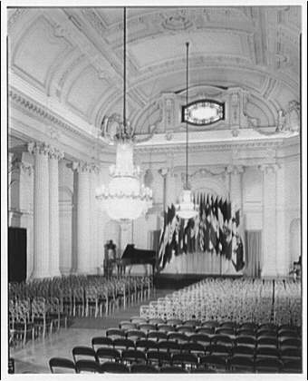 Pan American Union Building. Ballroom or auditorium in Pan American Union Building