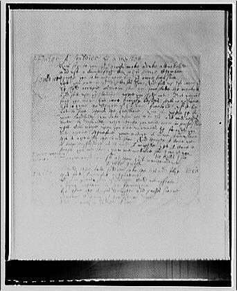 Folger Library copy work. Page from manuscript IV