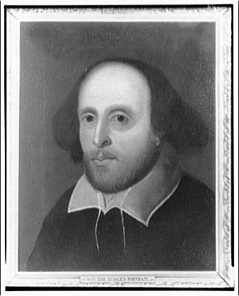Folger Library copy work. Lumley portrait of Shakespeare