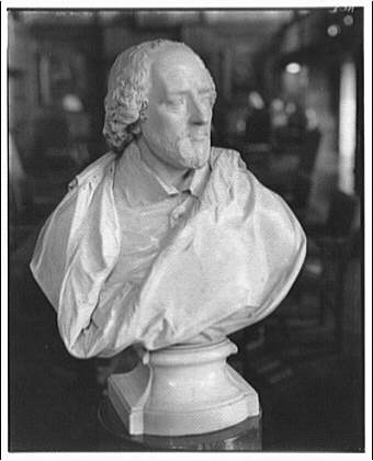 Folger Library copy work. Bust of Shakespeare I