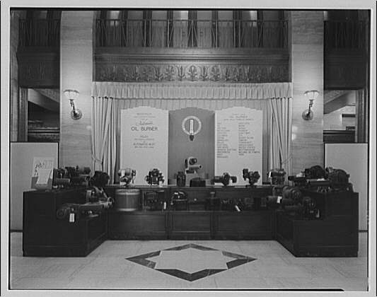 Electric Institute of Washington, Potomac Electric Power Co. building. Oil burner displays, summer 1940 I