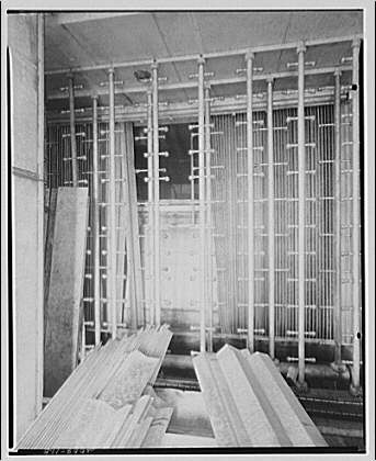 Mayflower Hotel. Construction of air conditioning on roof of Mayflower Hotel IX