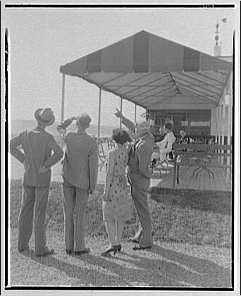 National Aeronautic Association of the United States of America. People viewing airplanes