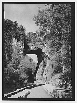 Natural Bridge, Virginia. View of Natural Bridge II
