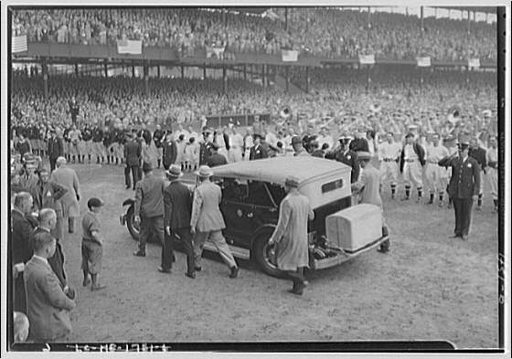 World Series of 1933, Washington, D.C. President's arrival to the game