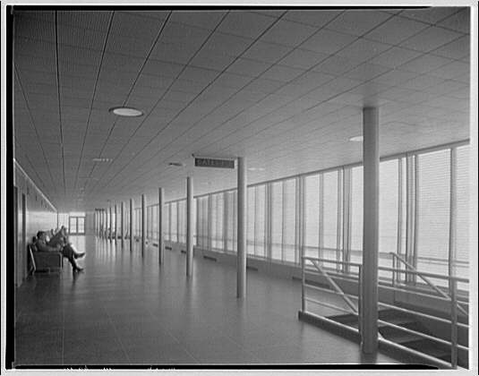 National Airport. Interior of waiting room at National Airport