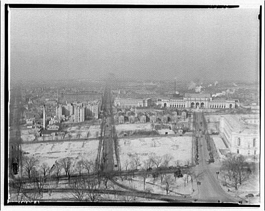 Washington, D.C. North from dome of U.S. Capitol