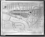 Plans for proposed building projects in Washington, D.C. Plan of Francis Scott Key Parkway, Georgetown, D.C.