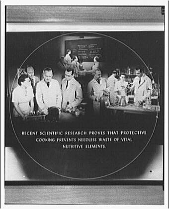 Electric Institute of Washington. Captioned images promoting protective cooking
