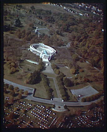 Arlington National Cemetery. Aerial view of Arlington National Cemetery