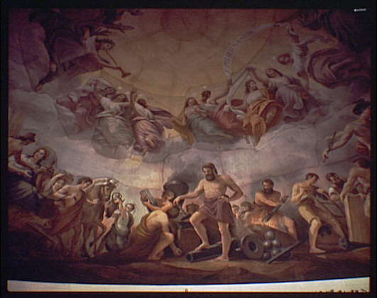 U.S. Capitol paintings. Vulcan fresco in U.S. Capitol V