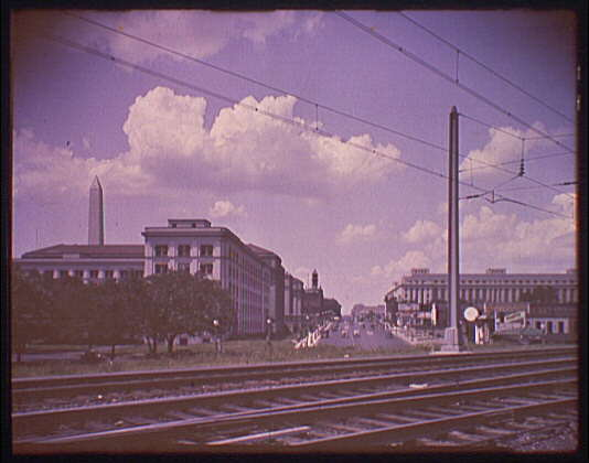 Washington, D.C. views. View from Union Station down avenue