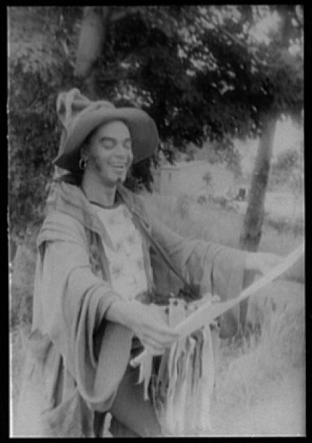 [Portrait of Earle Hyman, as Autolycus in The Winter's Tale]