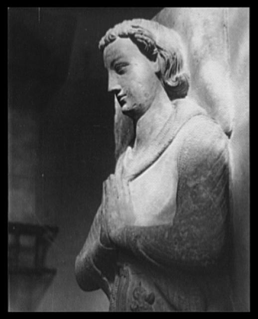 [Figure on Tomb, the Cloisters, New York City]
