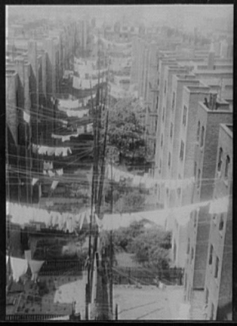 [Clothesline from Doctors Hospital, New York City(?)]