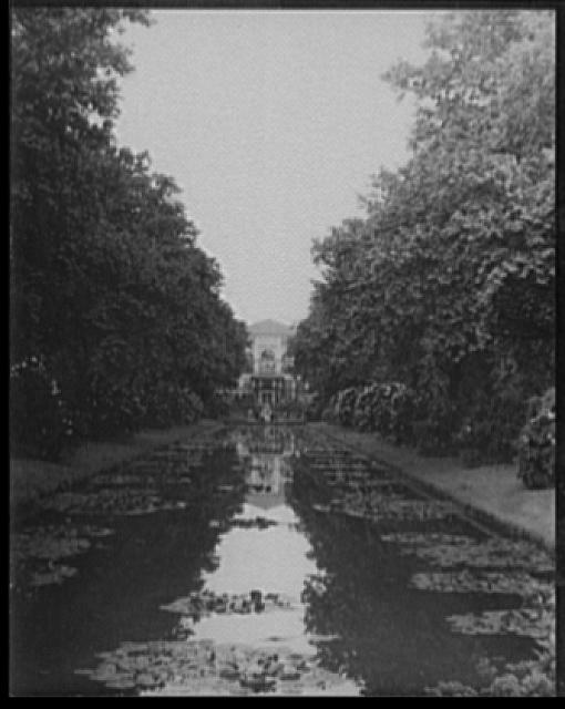 [Horticultural Hall and the rhododendrons, Fairmount Park, Philadelphia, Pennsylvania]